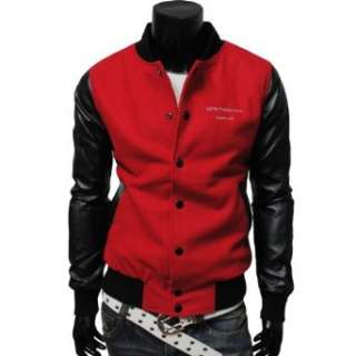 TheLees Mens Casual Embroidered Varsity Baseball Jacket Clothing