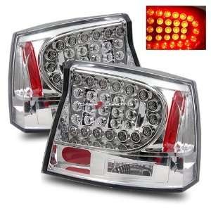06 08 Dodge Charger LED Tail Lights   Chrome Automotive