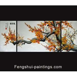 Abstract Art Plum Blossom Oil Painting Feng Shui Painting
