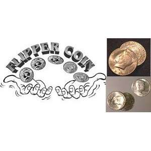 Flipper Quarter   Money Magic Trick Toys & Games