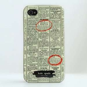 Kate Spade Hard Shell Iphone 4 Case Cell Phones