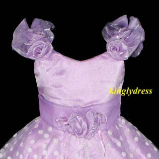 NEW Flower Girl Pageant Wedding Bridesmaid Party Dress Lilac Wears SZ