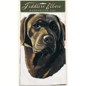 Chocolate Labrador Retriever Dog   Kitchen Towel by