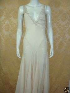 NEW* MAX AZRIA Oyster Chiffon Beaded Gown 4 $1580