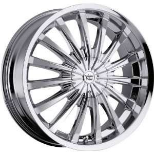 22x8.5 Vision Shattered 5x115 +9mm Chrome Wheels Rims Inch