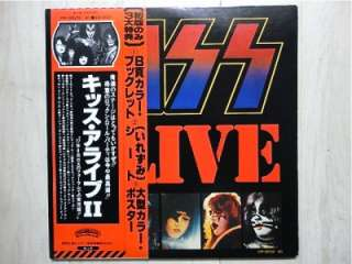 KISS / ALIVE 2 JAPAN 2LP /OBI,BOOKLET,GENE SIMMONS,PAUL STANLEY,HARD