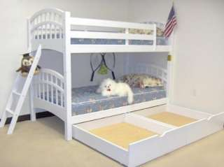 Mission Bunkbed Twin Pine Wood Bunk Beds Kids Black or White