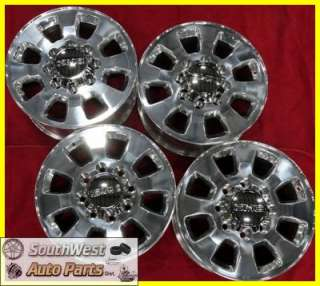 2011 GMC SIERRA DENALI 2500 3500 SRW 18 POLISHED TAKE OFF WHEELS OEM