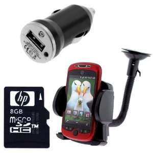 HP 8GB Micro SDHC Class 4 Memory Card + Car Mount Holder