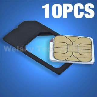 10X Micro SIM Card Adapter For iPhone 4 iPad 2G EA233C