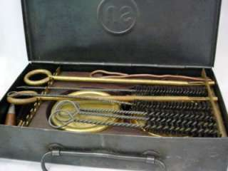 WWII US ARMY SQUAD GUN CLEANING KIT BRUSHES RODS OILER TOOLS FIELD