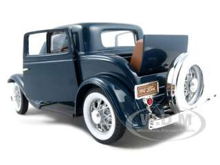 1932 FORD 3 WINDOW COUPE BLUE 118 DIECAST MODEL CAR