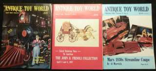 Antique Toy World Magazine 24 Issues 1987 1992 Free S&H