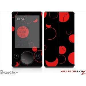 Zune 80/120GB Skin Kit   Lots of Dots Red on Black plus Free Screen