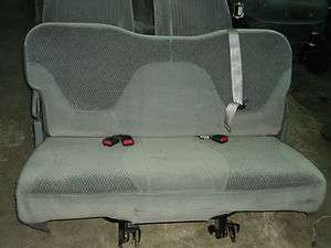 FORD F150 F250 3RD THIRD ROW BENCH SEAT SEATS TRUCK OEM GRAY