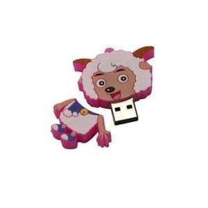 8GB Goat Shaped Cartoon USB Flash Drive Pink Electronics