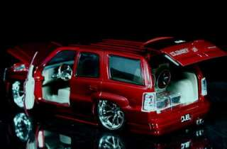 2002 Cadillac Escalde DUB City Diecast 124 Scale   Metalic Red