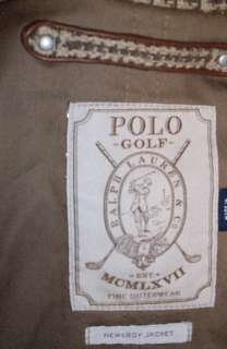 NWT POLO GOLF RALPH LAUREN NEWSBOY JACKET COTTON SILK TAN BROWN PLAID