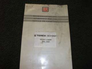 Terex Schaeff SKL 854 Wheel Loader Operating manual