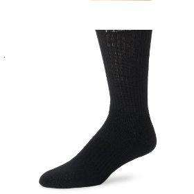 12 PRS MENS BLACK HEAVYWEIGHT SPORTS CREW SOCKS 10 13