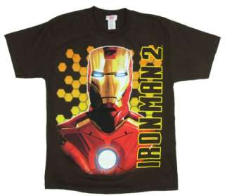 Bust Shot (Glow In The Dark)   Iron Man 2 Boys T shirt