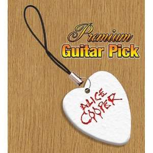 Alice Cooper Mobile Phone Charm Bass Guitar Pick Both