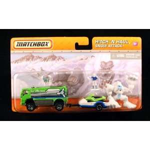SNOW ATTACK * SNOW TRUCK & BIGFOOT * Matchbox Hitch N Haul Die Cast