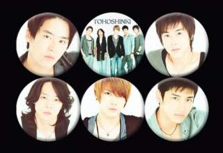 TVXQ DBSK JYJ Tohoshinki Korean Boy Band #3 Buttons Pins Badges