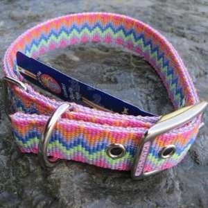 Hamilton Nylon Dog Collar Lavender Weave 1 x 20 inch Pet
