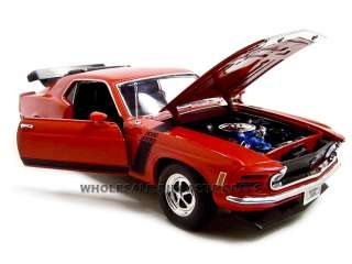 diecast model of 1970 Ford Mustang Boss 302 Die Cast car by Welly
