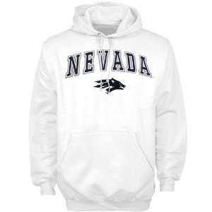 Nevada Wolf Pack White Team Color Hoody Sweatshirt  Sports