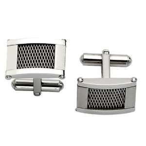 Mens Stainless Steel Wire Cuff Links Jewelry