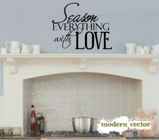 Season Everything Love Kitchen Vinyl Wall Quote Decal