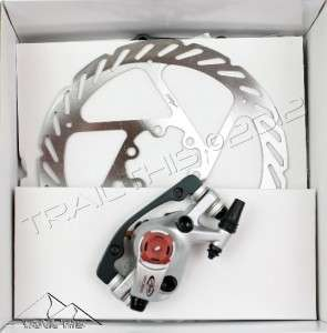 NEW AVID BB7 Road Disc Brake Caliper & 160mm G2 Rotor Platinum Front