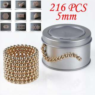 Magnetic Magnet Balls Beads Sphere Puzzle Cube Magic Toy 216 + Box