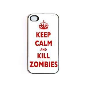 iPhone 4/4s Case Keep Calm And Kill Zombies Cell Phones & Accessories