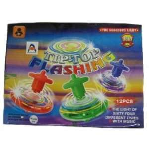 Light Up Spinning Top In Display Case Pack 72 Everything