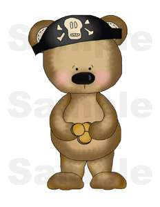 PIRATE BEARS BABY BOY NURSERY WALL ART STICKERS DECALS