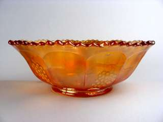 VINTAGE by FENTON ~ MARIGOLD CARNIVAL GLASS 9 MASTER BERRY BOWL