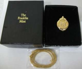 Franklin Mint Solid Gold Eagle Necklace Gilroy Roberts