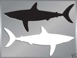 MAKO SHARK silhouette fishing cut vinyl decal up to 8
