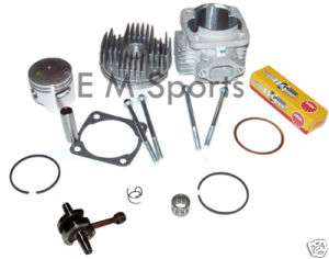 MIni Moto Pocket Bike Big Bore Kit w HP Crank 47cc 49cc