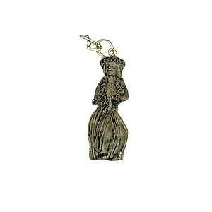 Hawaii Souvenir Key Chain Hapa Wood Hula Girl Kitchen