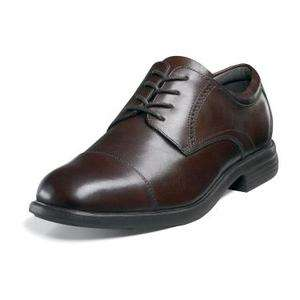 FLORSHEIM Mens Schiller Cap Toe Blucher Lace Up Shoes Brown Leather