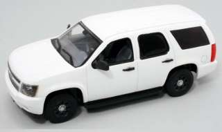 First Response 1/43 Chevy Tahoe Police SUV   Plain White   Great For