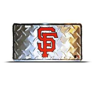 Sf Giants Mlb Metal Sport License Plate Wall Sign Tag Automotive