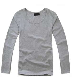 fashion dress Mens Wool Long Sleeve Round Neck cotton T Shirt 8 colors
