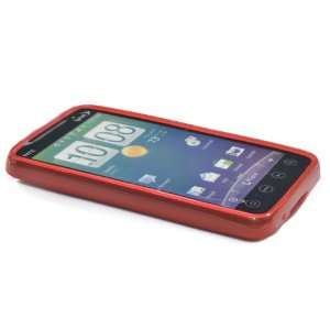 Red TPU Rubber Case for HTC EVO 4g Cell Phones