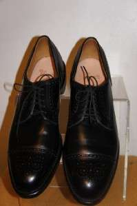Allen Edmonds Lexington Mens Black Brogue Leather Wing Tip Dress Shoe