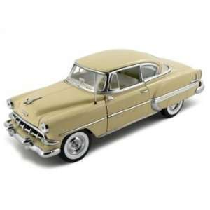 Chevrolet Bel Air Hard Top Diecast Car Model Beige 1/18 Toys & Games